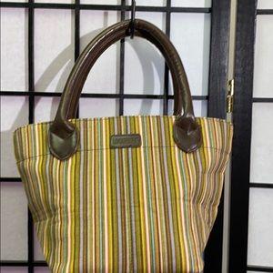 Longaberger Striped Bag 8x12